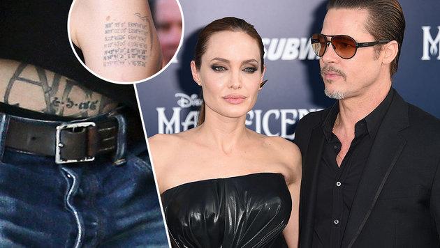 Was wird aus den Brangelina-Tattoos? (Bild: Viennareport, APA/AFP/ROBYN BECK)