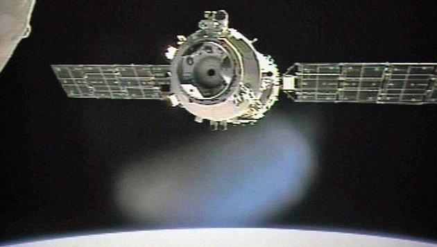 2012 bekam das Labor Besuch von der Erde, als ein Raumschiff mit drei Astronauten an Bord andockte. (Bild: AFP)
