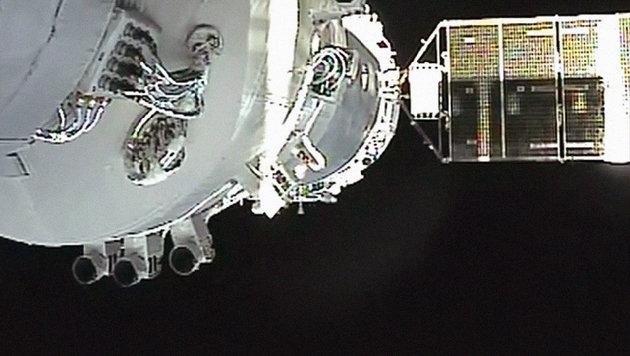 Chinas Raumlabor stürzt unkontrolliert auf Erde zu (Bild: AP/CCTV/APTN)