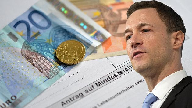 Bl�mel kritisiert, dass nirgendwo sonst so viel Mindestsicherung ausgezahlt wird wie in Wien. (Bild: APA/BARBARA GINDL, APA/ERWIN SCHERIAU)