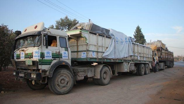 Syrien: UNO will Hilfslieferungen wieder aufnehmen (Bild: AFP)