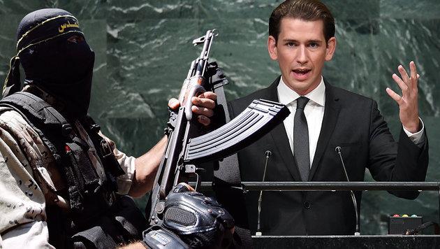 UNO: Kurz warnt vor Radikalisierung der Welt (Bild: AFP, 4_EPA/MOHAMMED SABER)