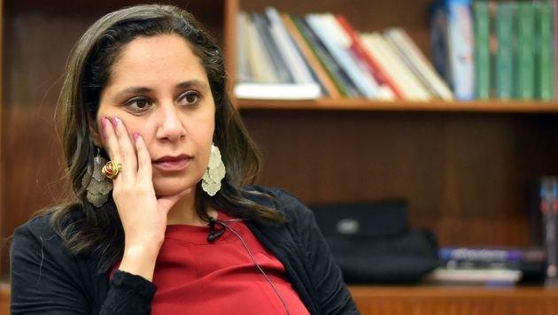 Mozn Hassan (Bild: APA/AFP/Mohamed El-Shahed)