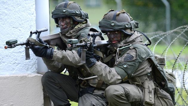 Neue Panzer und Jets: Heer r�stet im Eiltempo auf (Bild: APA/Robert J�ger)