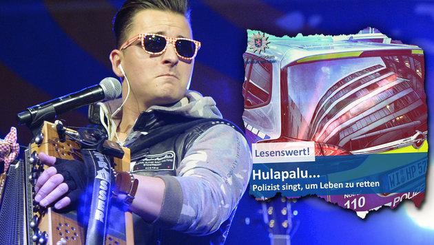 Polizist rettete Mann mit Gabalier-Song das Leben (Bild: APA/Hans Klaus Techt, facebook.com/PolizeiFrankfurt)