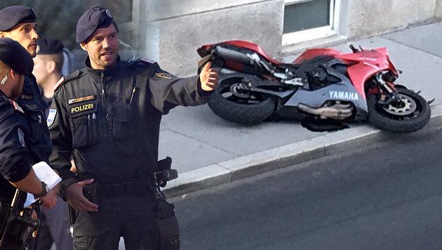 T�rkischer Straft�ter raste Polizist (52) nieder (Bild: APA/HERBERT P. OCZERET, Bernhard Schiel)