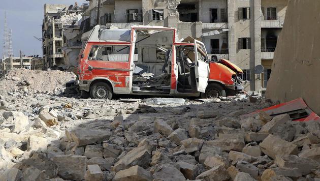 """UN-Chef Ban nennt Aleppo ein """"Schlachthaus"""" (Bild: Associated Press)"""