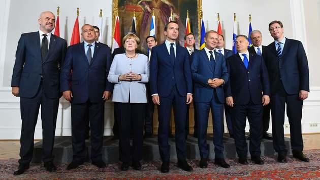 """""""Balkanroute muss für immer geschlossen bleiben"""" (Bild: APA/AFP/JOE KLAMAR)"""