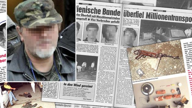 """Ausbrecherkönig Max Leitner (58) wurde 1990 beim Geldtransporter-Coup von der Polizei gefasst. (Bild: IPA Tirol, """"Krone"""")"""