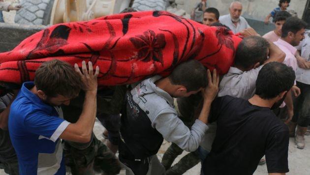 """Heftige Angriffe"": Immer mehr Tote in Aleppo (Bild: APA/AFP/AMEER ALHALBI)"