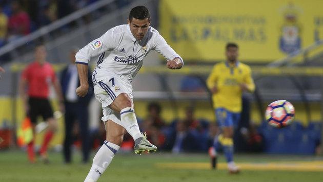 Real enttäuscht gegen Las Palmas, Ronaldo sauer (Bild: AP)