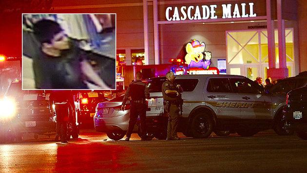 Schießerei in US-Einkaufszentrum: Fünf Tote (Bild: AP)