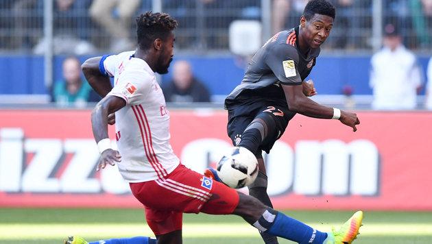 Video: Spätes Bayern-Tor schockt Krisenklub HSV (Bild: GEPA)