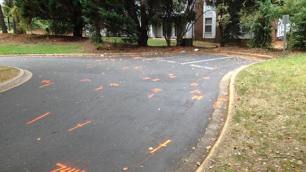 Der Parkplatz, auf dem Scott erschossen wurde. (Bild: Associated Press)