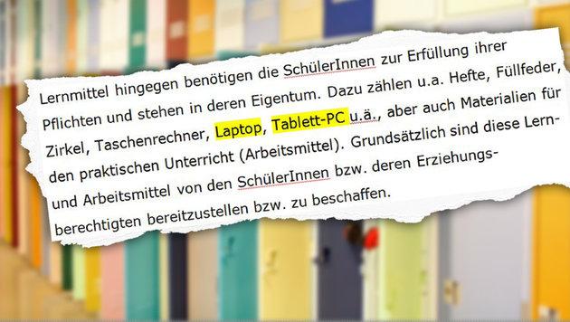 """Ein Ausriss aus jenem Schreiben des Ministeriums, das für Wirbel sorgte. (Bild: """"Krone"""", Thinkstockphotos.com)"""