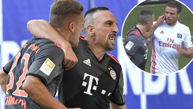 Bayern-Hitzkopf Ribery sorgt f�r n�chsten Aufreger (Bild: APA/AFP/JOHN MACDOUGALL, SKY)