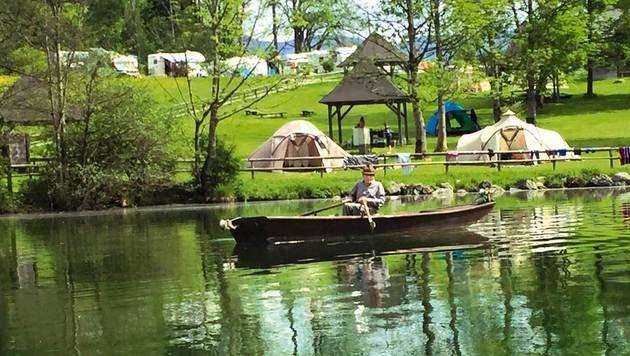 Auch der Gleinkersee mit seinem grün schimmernden Wasser lädt zum Entspannen ein. (Bild: Christoph Budin, Kronen Zeitung)