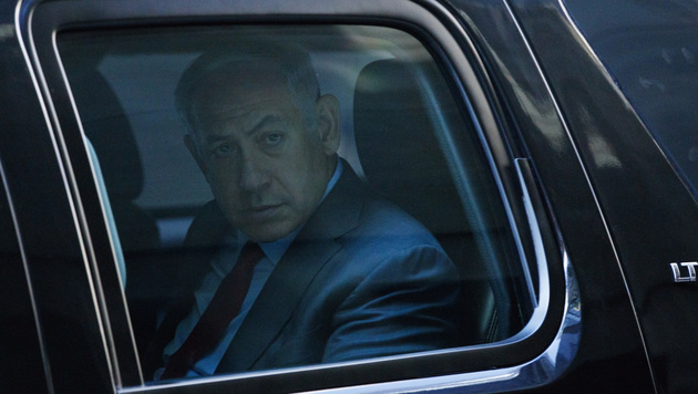 Netanyahu bei Clinton und Trump in New York (Bild: Associated Press)