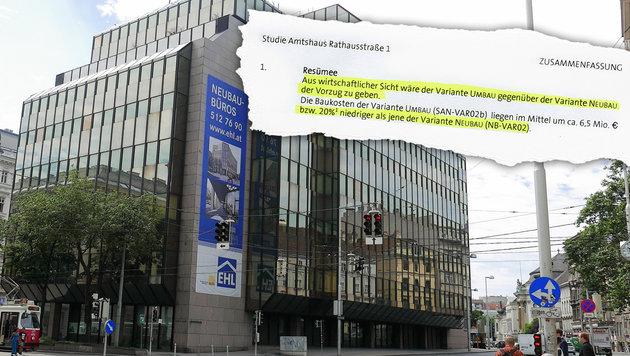 """Glaspalast: Neubau kommt Wienern teuer zu stehen (Bild: Gerhard Bartel, """"Krone""""-Grafik)"""