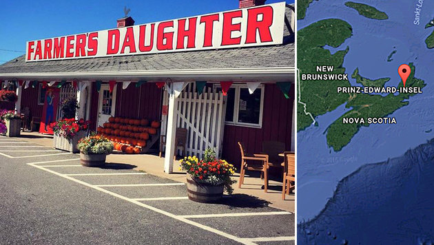 "Kanadische Firma bietet zum Job ein Stück Land (Bild: facebook.com/The Farmer""s Daughter Country Market, GoogleMaps)"