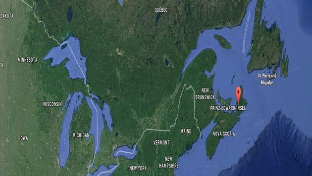 Kanadische Firma bietet zum Job ein Stück Land (Bild: GoogleMaps)