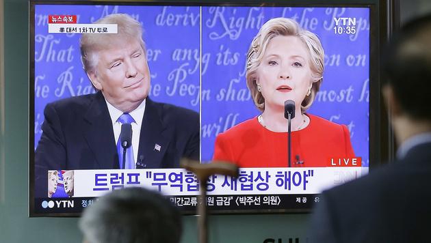 Das TV-Duell wurde in die ganze Welt übertragen. (Bild: Associated Press)