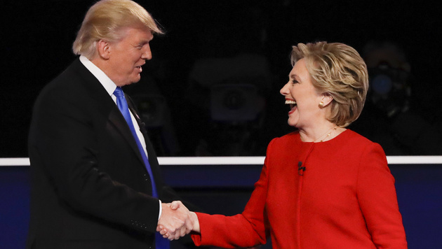 TV-Duell: Trump planlos, Clinton macht Boden gut (Bild: ASSOCIATED PRESS)