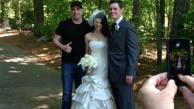 John Travolta crasht eine Hochzeit (Bild: Viennareport)