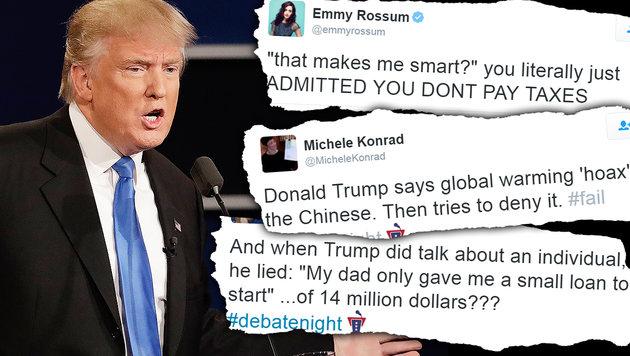 Debakel im TV: Hat Trump den Wahlsieg verspielt? (Bild: AP, twitter.com)