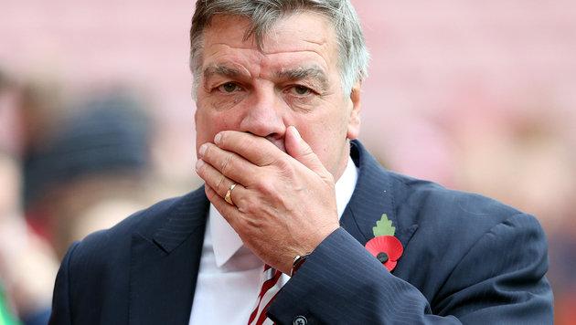 Sam Allardyce ist NICHT mehr englischer Teamchef (Bild: AP)