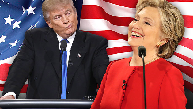 TV-Duell: Trump planlos, Clinton macht Boden gut (Bild: AP, APA/AFP/GETTY IMAGES/WIN MCNAMEE, thinkstockphotos.de)