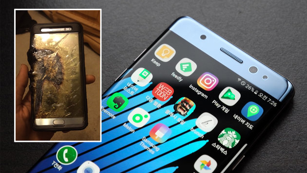 Trotz Rückruf: Galaxy Note 7 explodiert beim Laden (Bild: flickr.com/thebetterday4u, YouTube.com/Ariel Gonzalez)