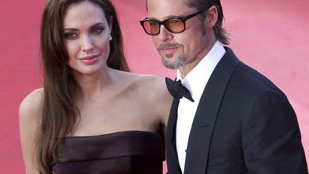 Angelian Jolie und Brad Pitt (Bild: APA/EPA/IAN LANGSDON)