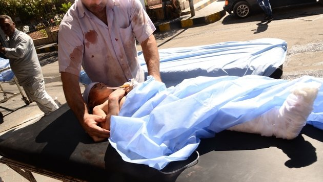 """UN-Chef Ban nennt Aleppo ein """"Schlachthaus"""" (Bild: APA/AFP/Georges Ourfalian)"""