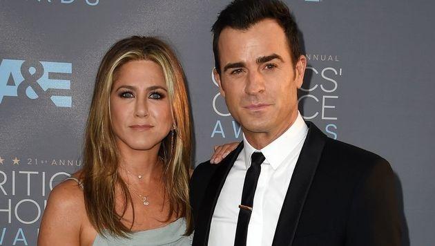 Jennifer Aniston und Justin Theroux (Bild: MARK RALSTON/AFP/picturedesk.com)