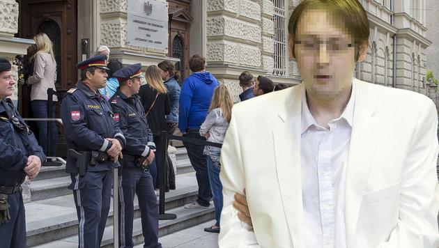 Graz: Gespanntes Warten auf Urteil im Amok-Prozess (Bild: APA/ERWIN SCHERIAU/APA-POOL)