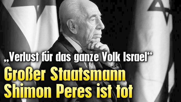 Israels gro�er Staatsmann Shimon Peres ist tot (Bild: AP)