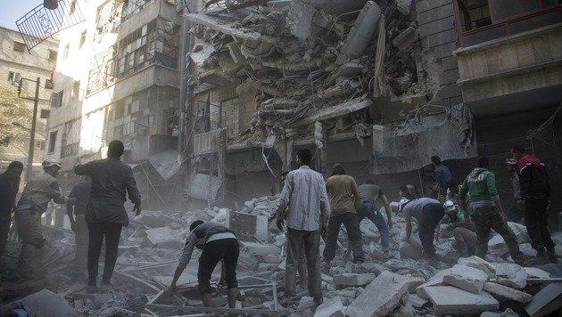 """UN-Chef Ban nennt Aleppo ein """"Schlachthaus"""" (Bild: APA/AFP/Karam Al-Masri)"""