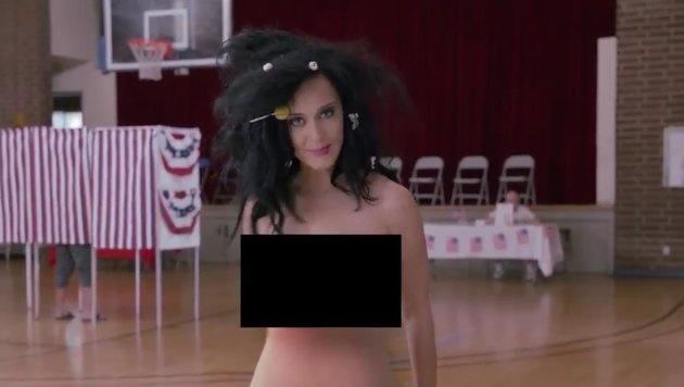 Katy Perry geht nackt wählen. (Bild: facebook.com/katyperry)