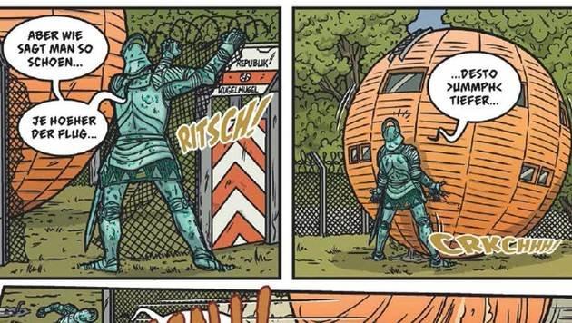 """Wiener Bürgermeister als Comic-Star (Bild: ASH4)"""