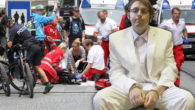Geschworene nahmen Alen R. seine Show nicht ab (Bild: APA/Erwin Scheriau, Christian Jauschowetz)