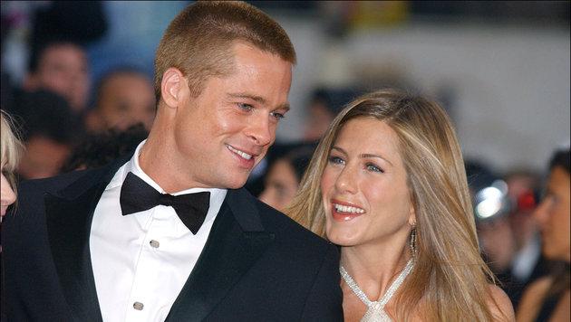 Brad Pitt und Jennifer Aniston 2004 bei einer Filmpremiere (Bild: Viennareport)