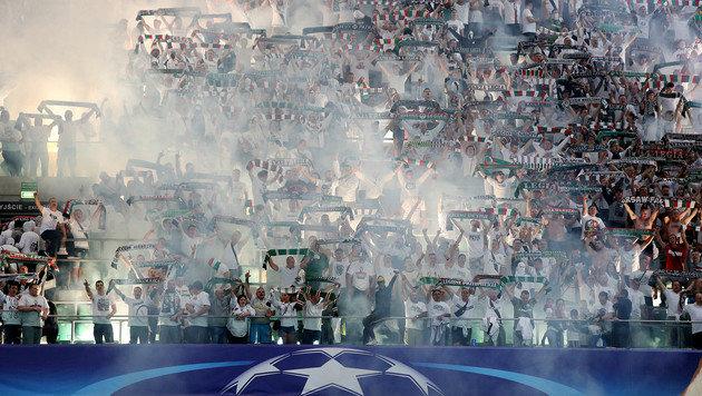 80.000 € Strafe und Geisterspiel für Legia! (Bild: Associated Press)