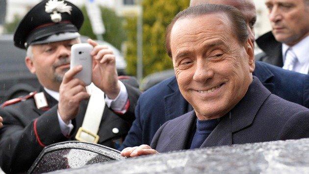 """Öffentliche Auftritte meidet der """"Cavaliere"""" an seinem 80. Geburtstag. (Bild: APA/AFP/ANDREAS SOLARO)"""