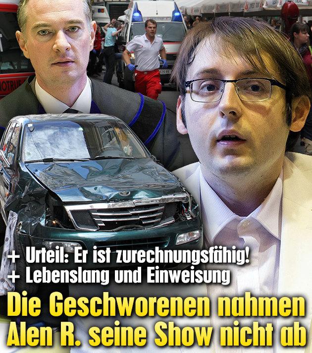 Geschworene nahmen Alen R. seine Show nicht ab (Bild: Christian Jauschowetz, APA/Erwin Scheriau)
