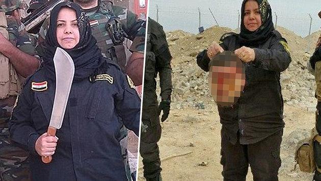 """""""Miliz-Oma"""": """"Ich schlug IS-Kämpfern die Köpfe ab"""" (Bild: facebook.com)"""