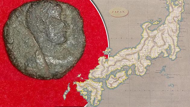 Münzen aus dem Römischen Reich in Japan entdeckt (Bild: AFP/Jiji Press, thinkstockphotos.de)