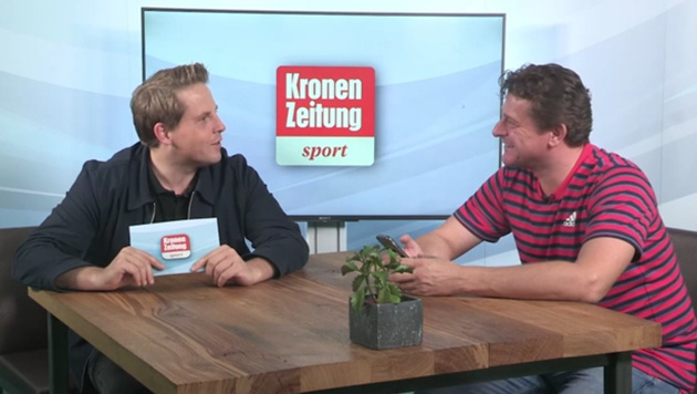 Peter Moizi im Talk �ber Dominic Thiems Asien-Tour (Bild: krone.tv)