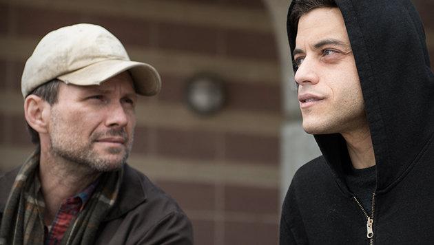 """Die Stars von """"Mr. Robot"""": Christian Slater und Rami Malek (Bild: facebook.com/WhoIsMrRobot)"""