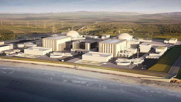 So sollen die zwei neuen Reaktorblöcke von Hinkley Point aussehen. (Bild: AFP/EDF Energy)